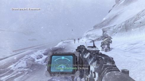 Los efectos del clima, en este caso la nieve, se pueden apreciar sobre cada una de nuestras armas