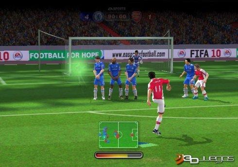 Un control mejorado de FIFA 09 será muy gratificante a la hora de pasar
