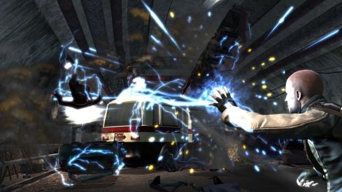 Los poderes son el aspecto más alucinante del juego, tendremos distintos tipos: ondas de energia, rayos, ondas expansivas, barreras...Todo ello condicionado por si somos Héroe o Villano (los poderes camabiarán en función de este aspecto)