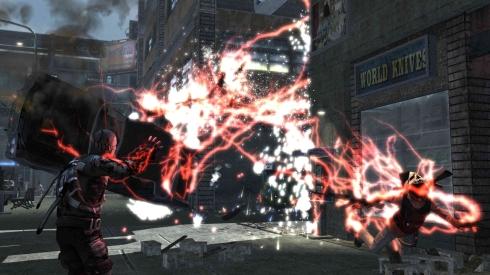 Explosiones, rayos, disparos, texturas, iluminación...todo estos aspectos hacen del apartado gráfico de Infamous una delicia visual.